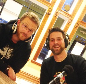 The Skis and Stuart McLog in studio